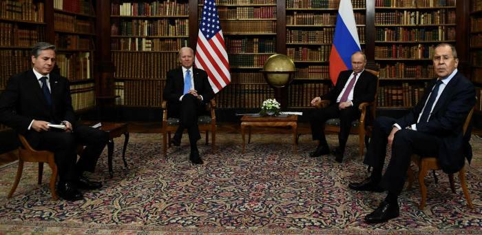 US secretary of state Antony Blinken, US president Joe Biden, Russian President Vladimir Putin and Russian foreign minister Sergei Lavrov
