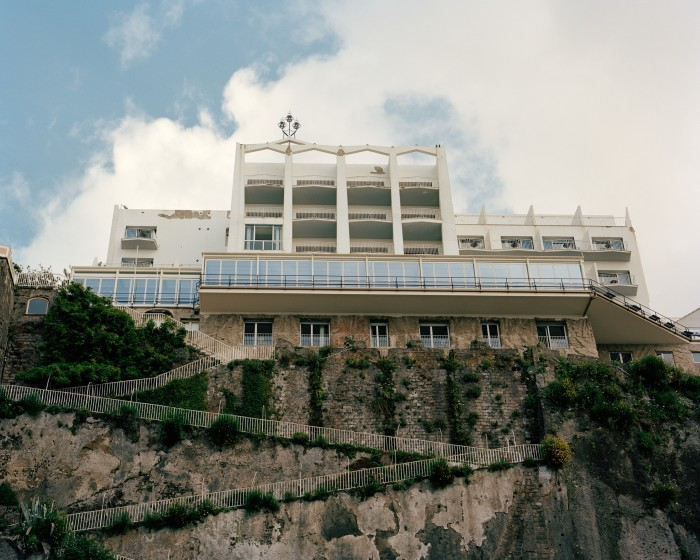 The Parco dei Principi hotel in Sorrento, seen from its private beach