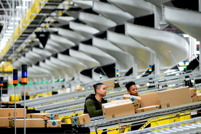 An Amazon distribution station in New York. Anderson says his bet on the company taught him that 'you've got to keep the attention on being obsessive about investment'