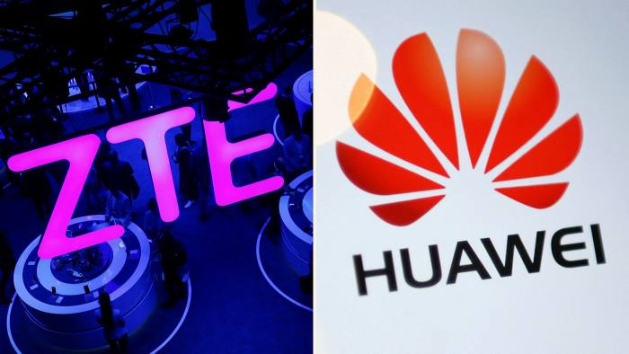 ZTE and Huawei logo