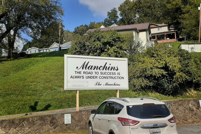 Manchin family name on the sign