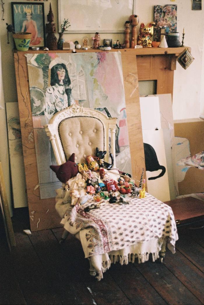 Knick-knacks in the artist's studio