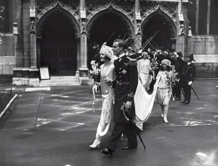 The Mountbattens' wedding in1922