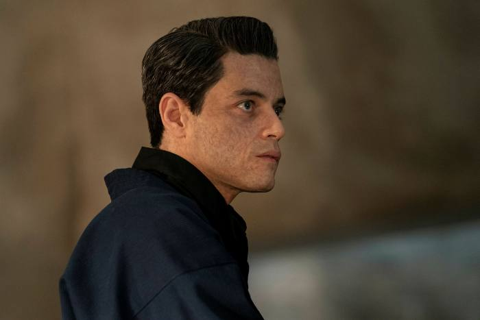 Rami Malek as Safin purple and ugly