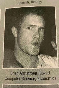 Armstrong's senior yearbook