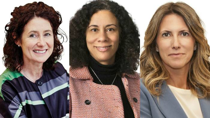 Linklaters global corporate head Aedamar Comiskey, left, London corporate and M&A partner Sarah Wiggins, centre, and Milan-based western Europe managing partner Claudia Parzani,right