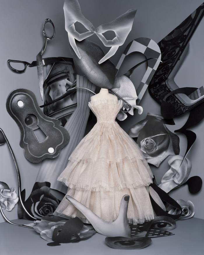 """A Dior gown made to look as if it """"wafted in on the wind"""""""