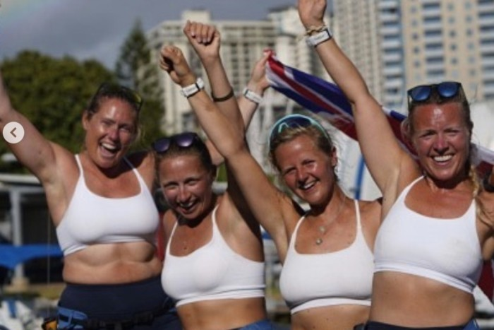 Sweaty Betty fans include the Oceans Sheroes, the UK foursome who rowed from San Francisco to Hawaii in May