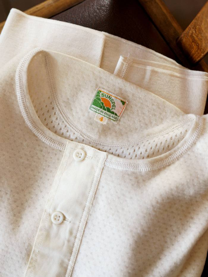 A vintage Sunspel Henley shirt from the 1950s