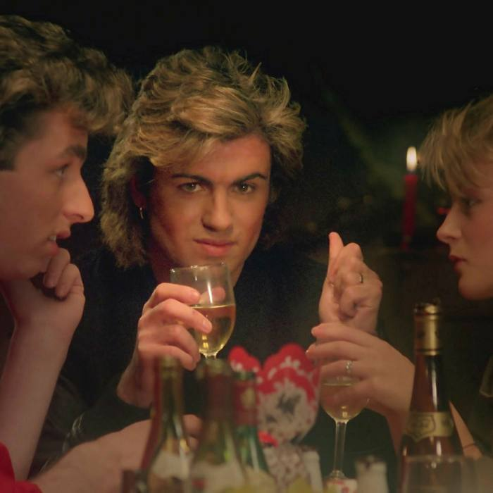 George Michael in the video for the Wham! song 'Last Christmas'