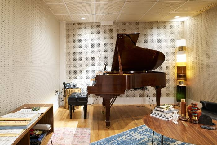 Rockwell's piano room