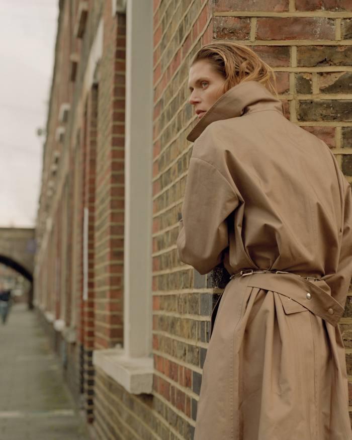 Dior cotton/ mixed-fibres coat, POA. Kwaidan Editions silverStockton  belt, £2,114