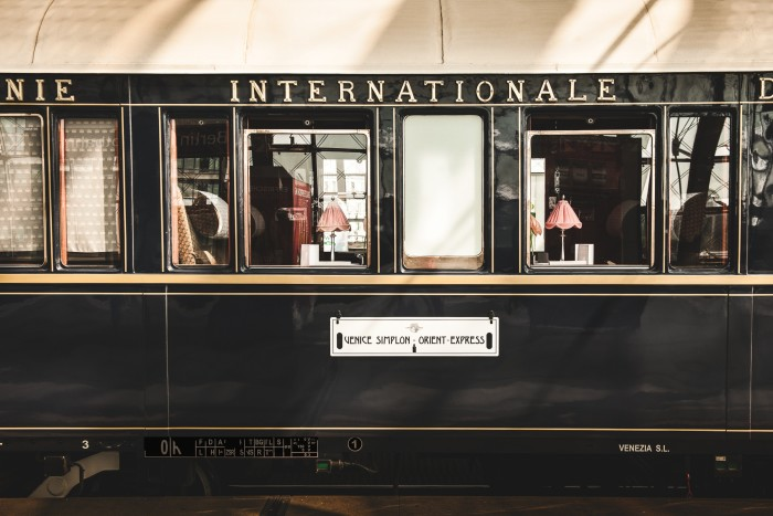 A carriage of the Venice-Simplon Orient Express
