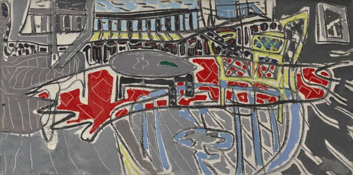 St Ives Window with RedCarpet, 1952, by PatrickHeron