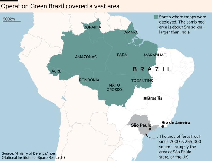 Map of Operation Green Brazil