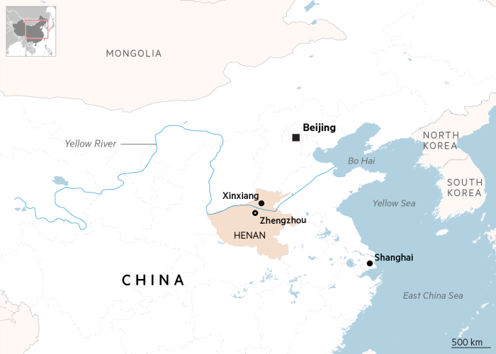 Map of Henan province