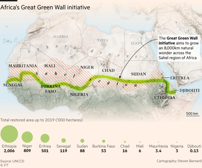 The Olympic forest Project will assist the Great Green Wall initiative plant trees across Northern Africa.