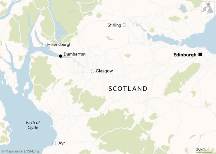 Dumbarton, Scotland map