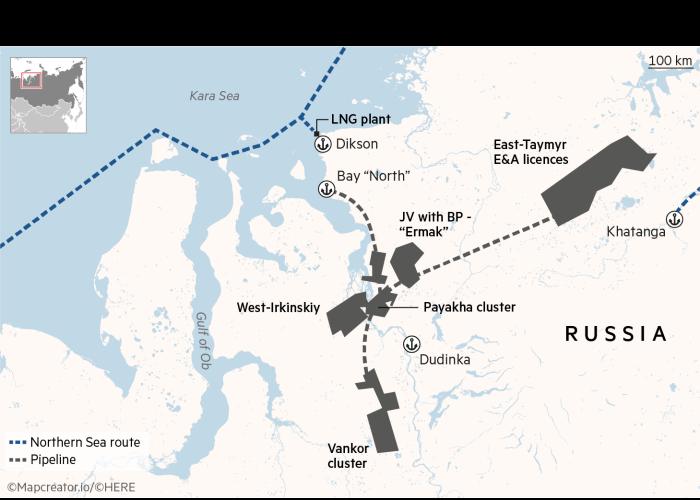 Vostok Oil's planned development on Siberia's Taymyr Peninsula