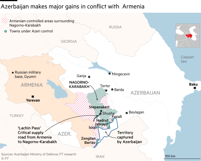 Drones And Missiles Tilt War With Armenia In Azerbaijan S Favour Financial Times