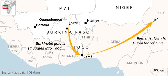 Sahel locator map