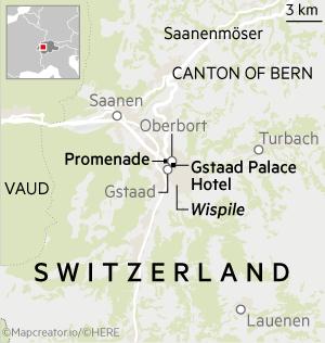 Map of Gstaad, Switzerland