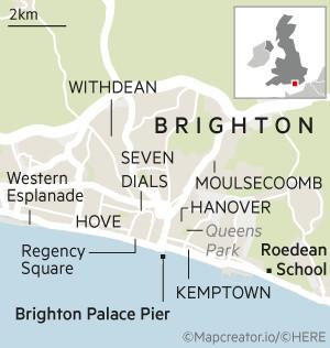 House & Home map - Brighton UK