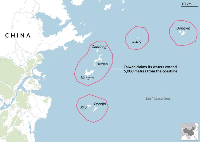 Map of Matsu Islands
