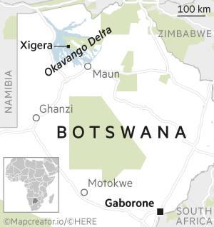 Travel map Botswana