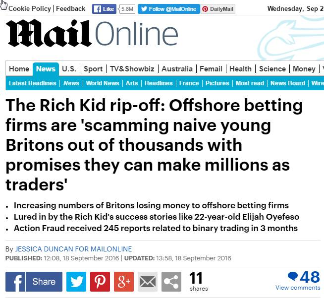 Mail Online screenshot, Sept 21