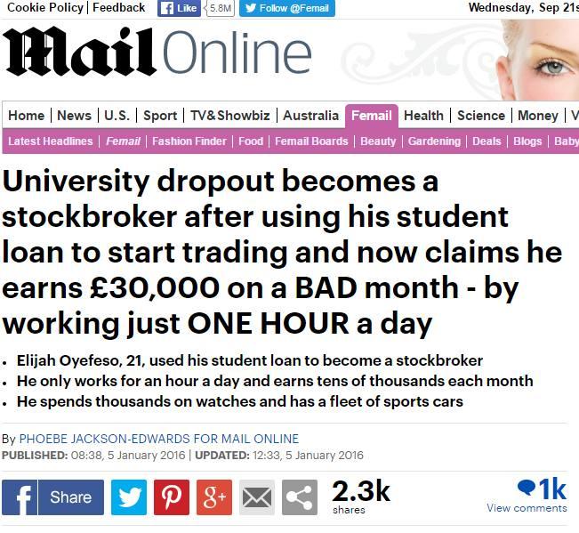 Mail Online screenshot, Sept 21