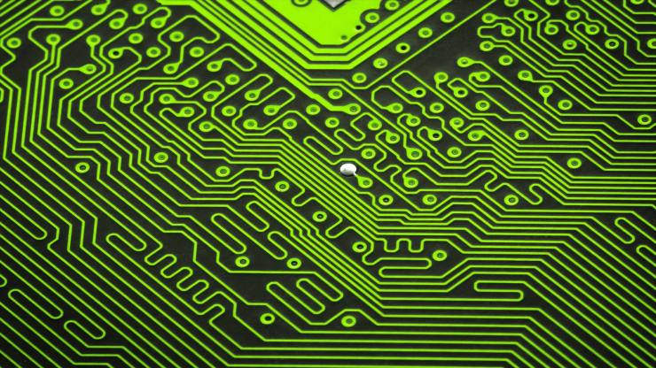 Close up of a green circuit board 							Close up of s green circuit board without components  							ID 13539163 © Dani3315 | Dreamstime