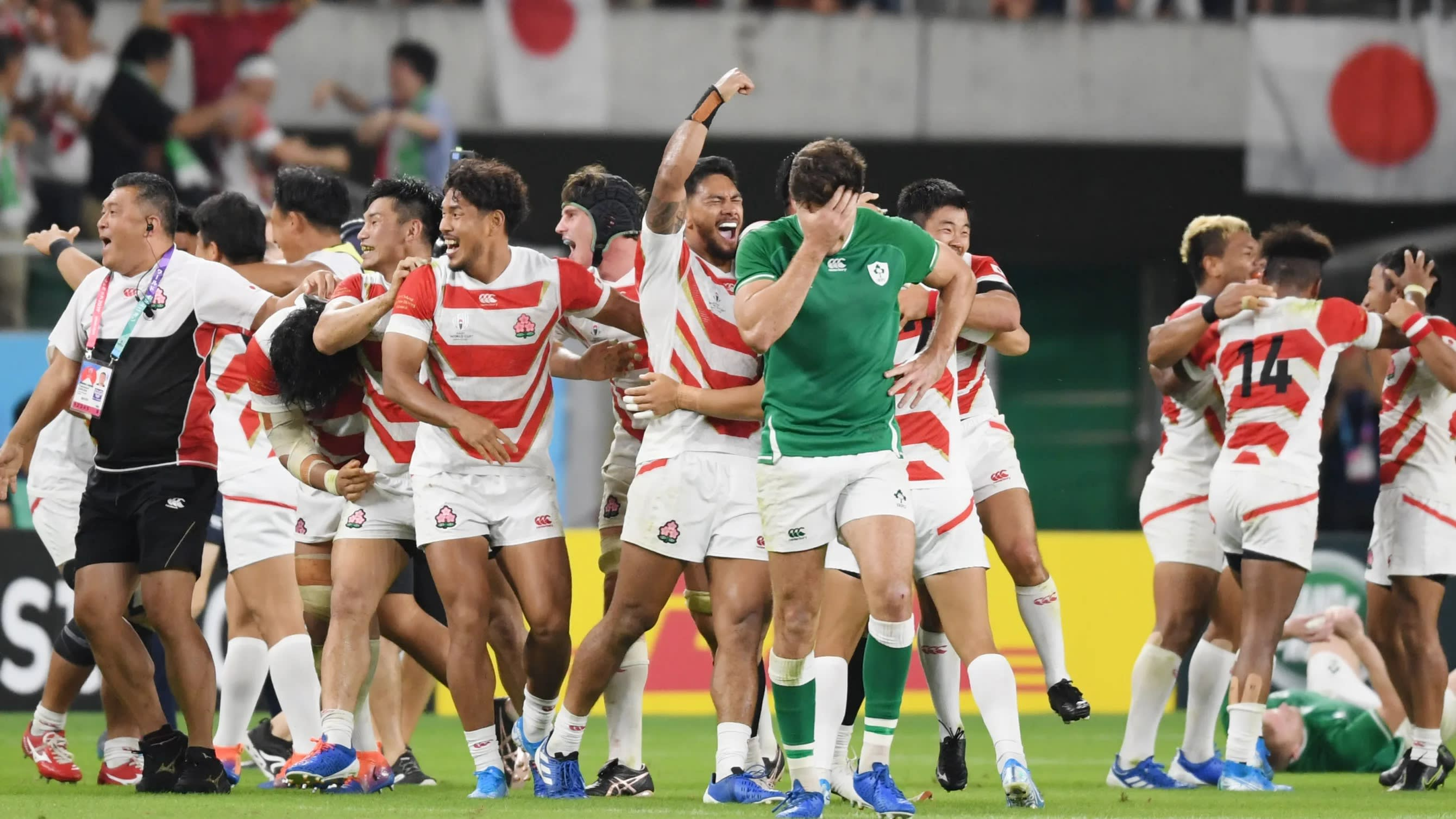 Image result for japan rugby win over ireland
