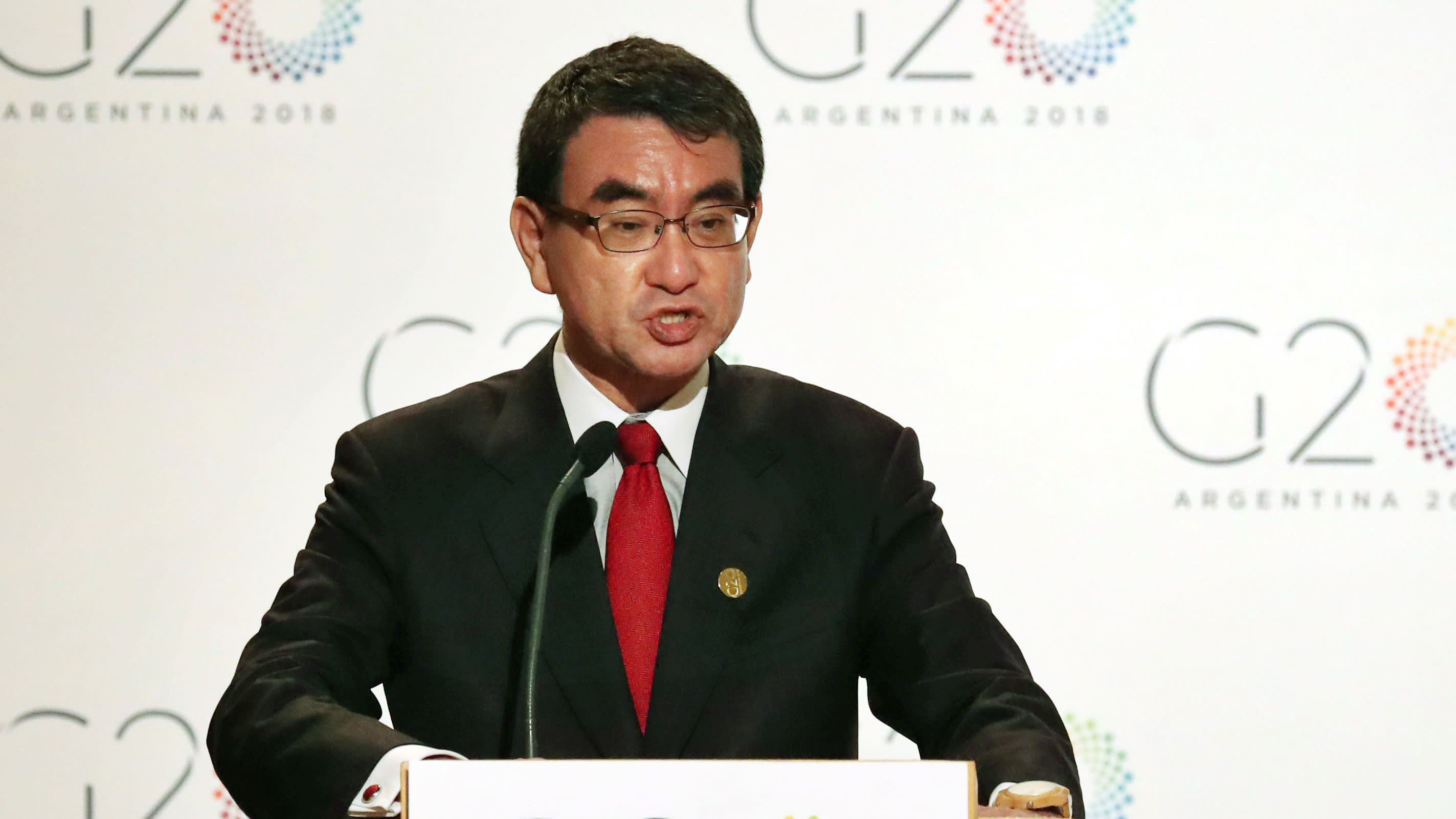 Japan's foreign minister champions international tax system