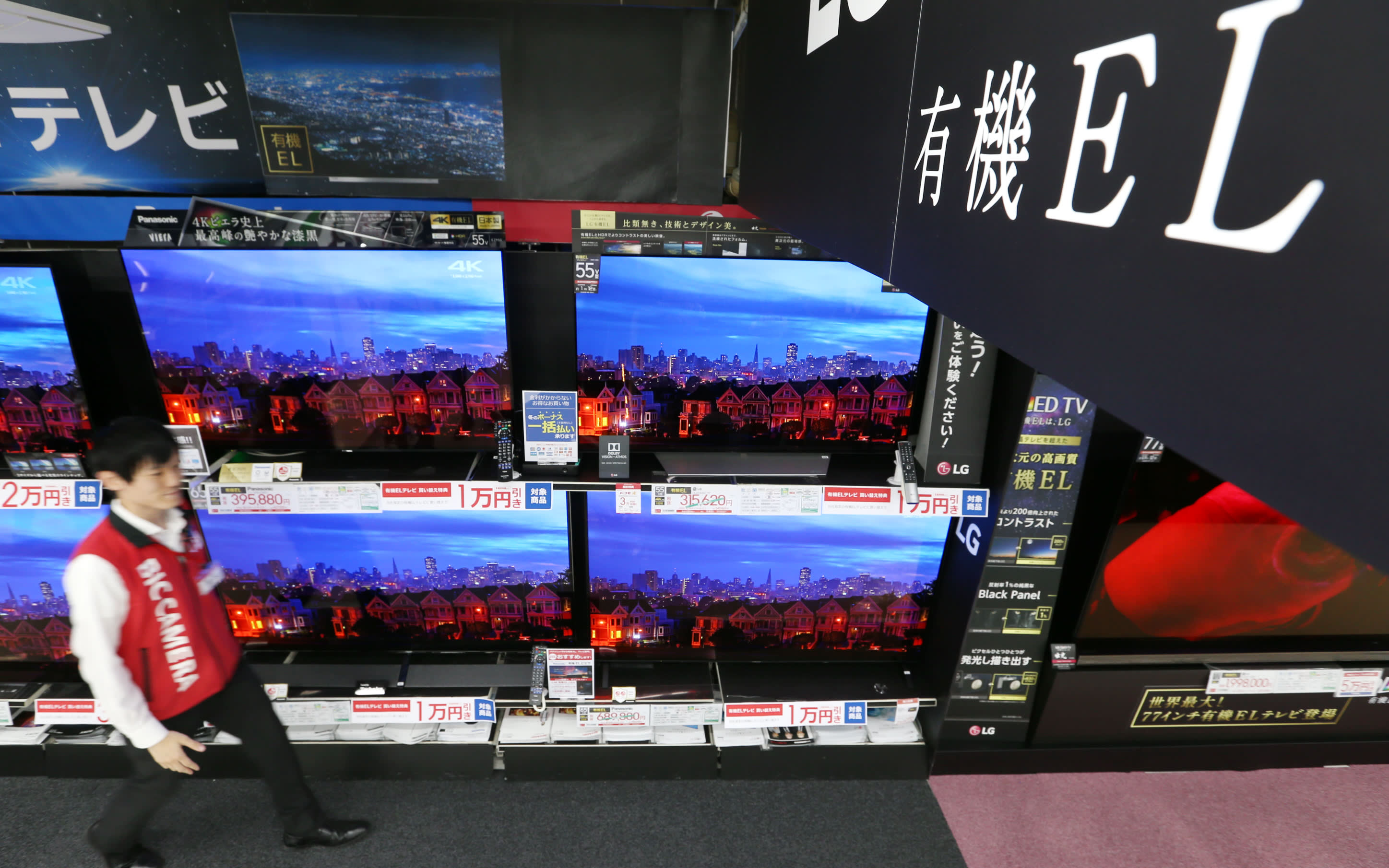 Japan manufacturers' OLED TV sales poised to top 1m in 2019 - Nikkei