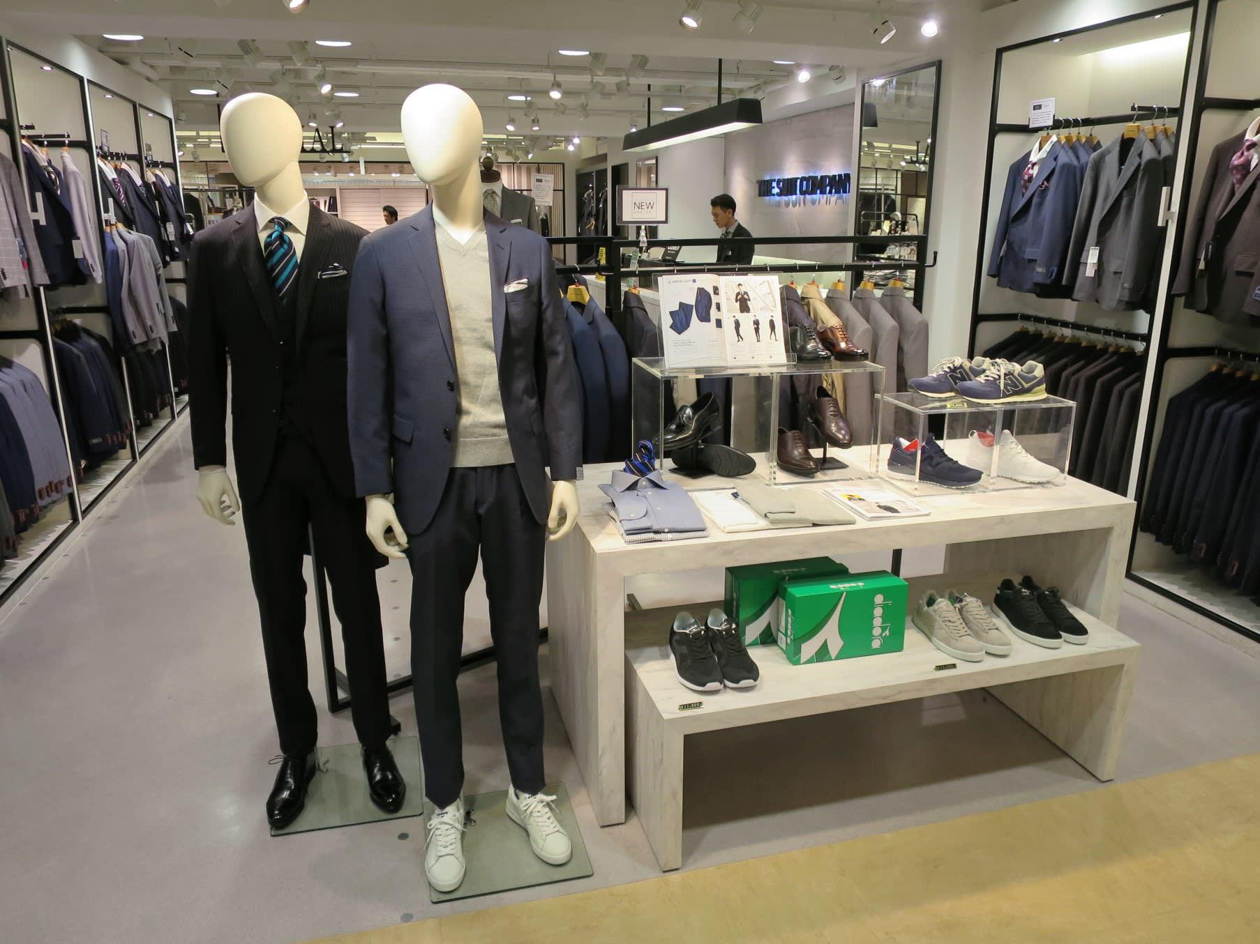 Menswear and shoe stores in Japan put salarymen in sneakers