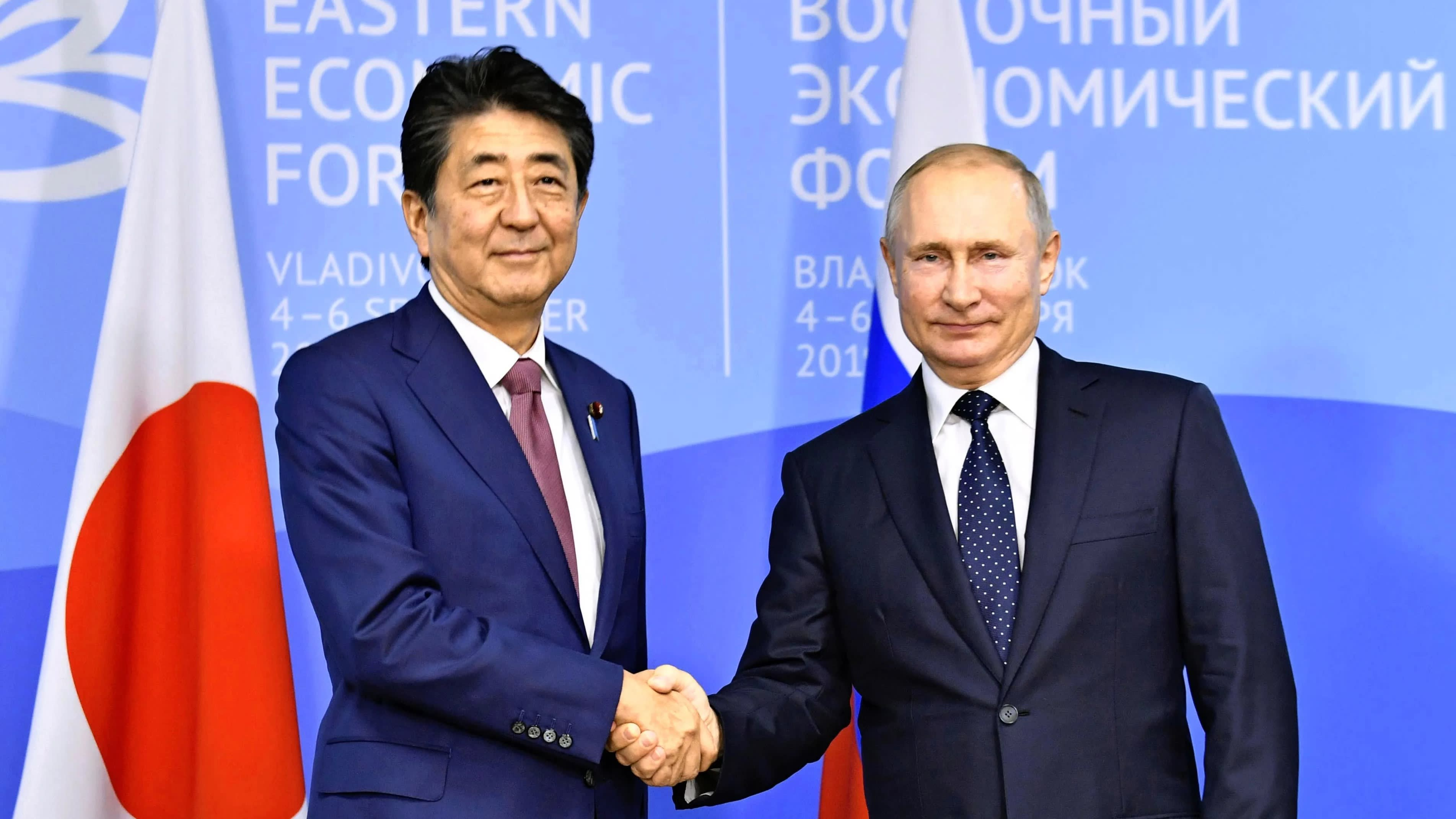 Abe Urges Putin To Fulfill Historical Duty To Sign Peace Treaty Nikkei Asia