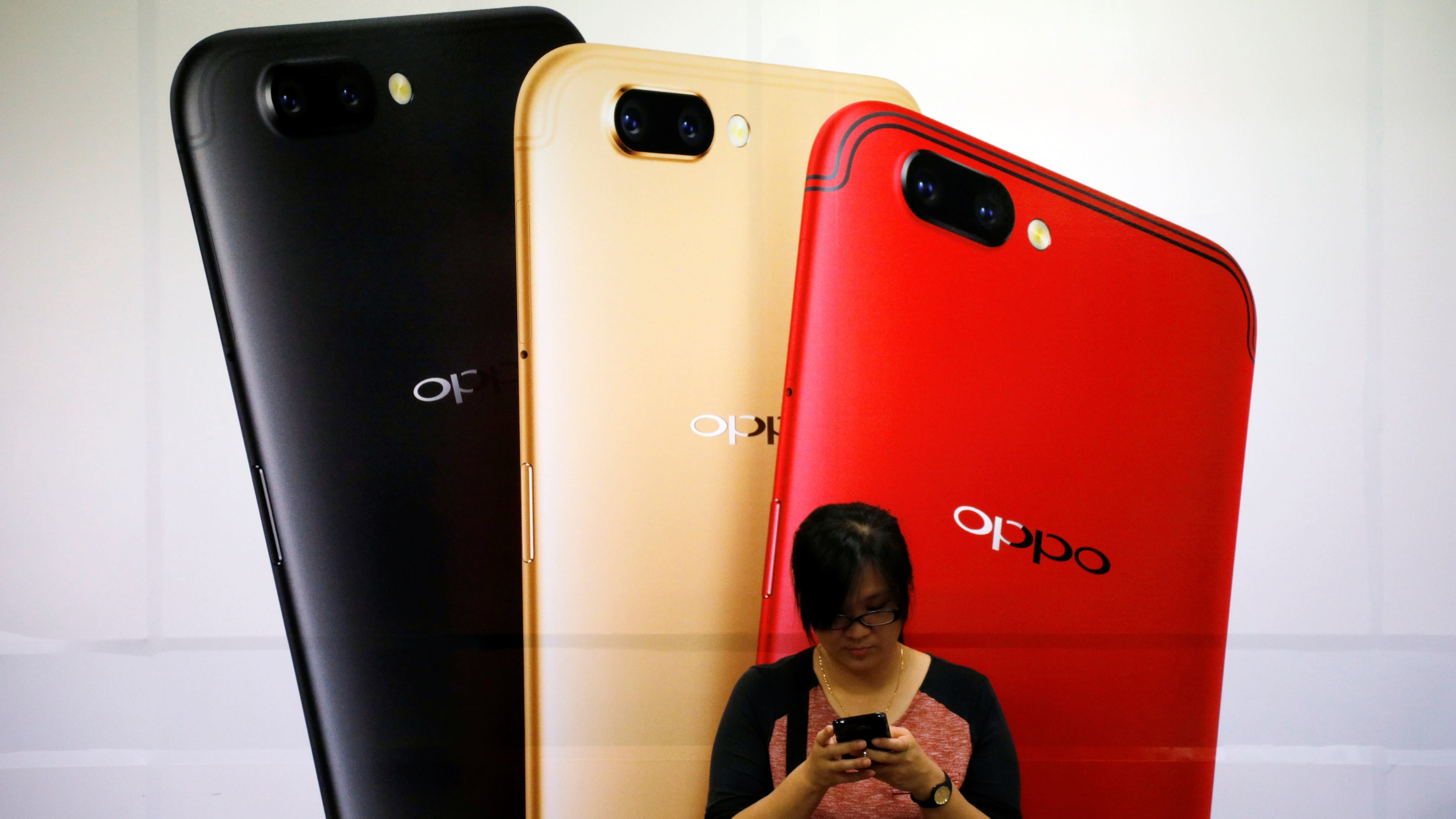 Oppo ceded first place in China s smartphone market to Huawei in 2017 © Reuters