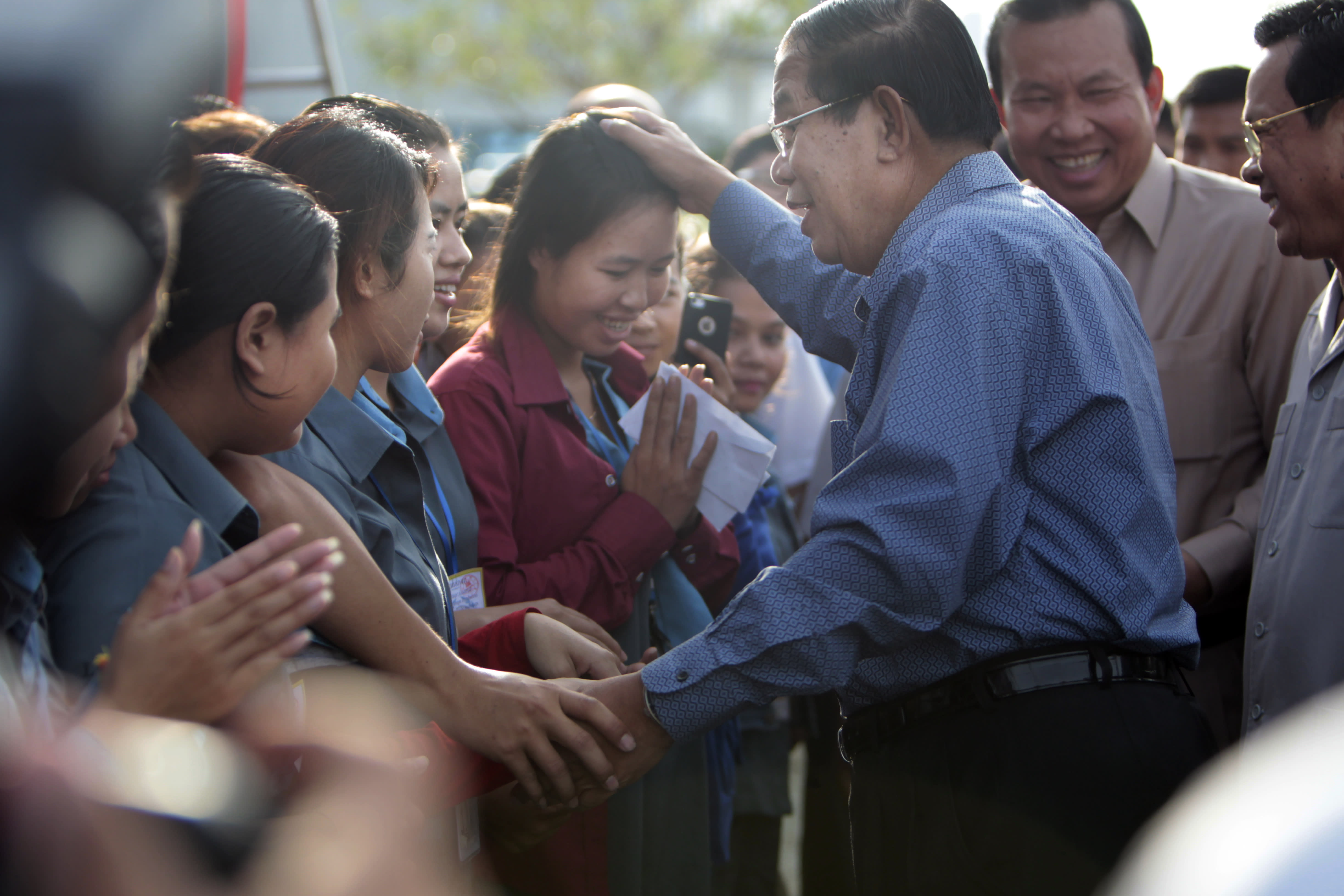 hun sen garment worker