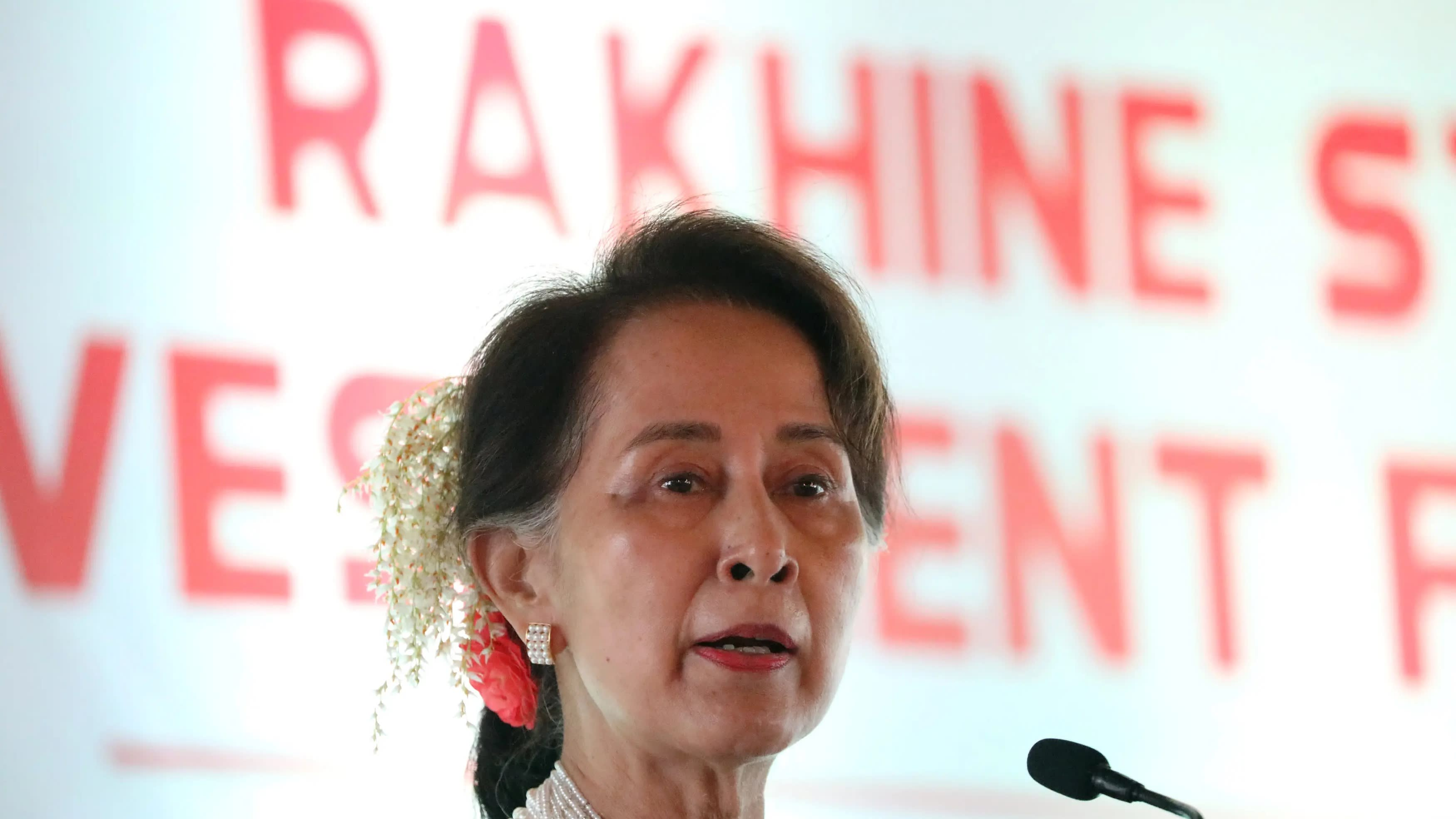"The economic potential of Rakhine State ""remains untapped,"" Myanmar's de facto leader Aung San Suu Kyi told investors and businesses last week."