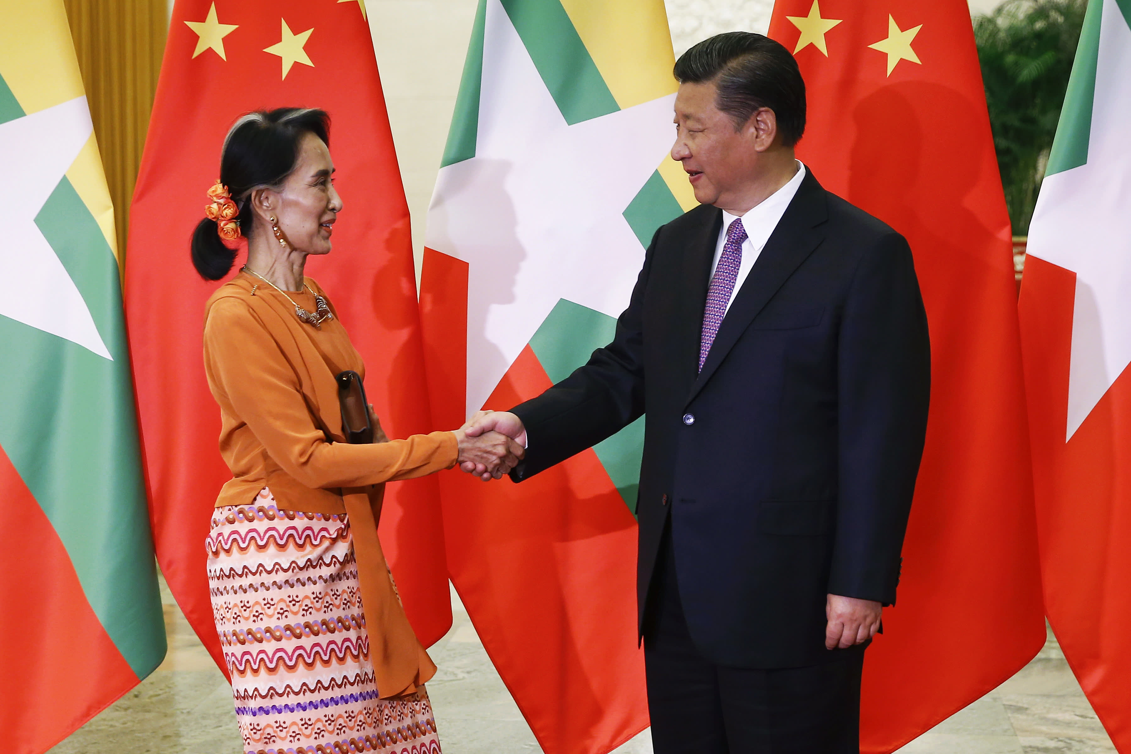 Image result for state counsellor meets xi jinping