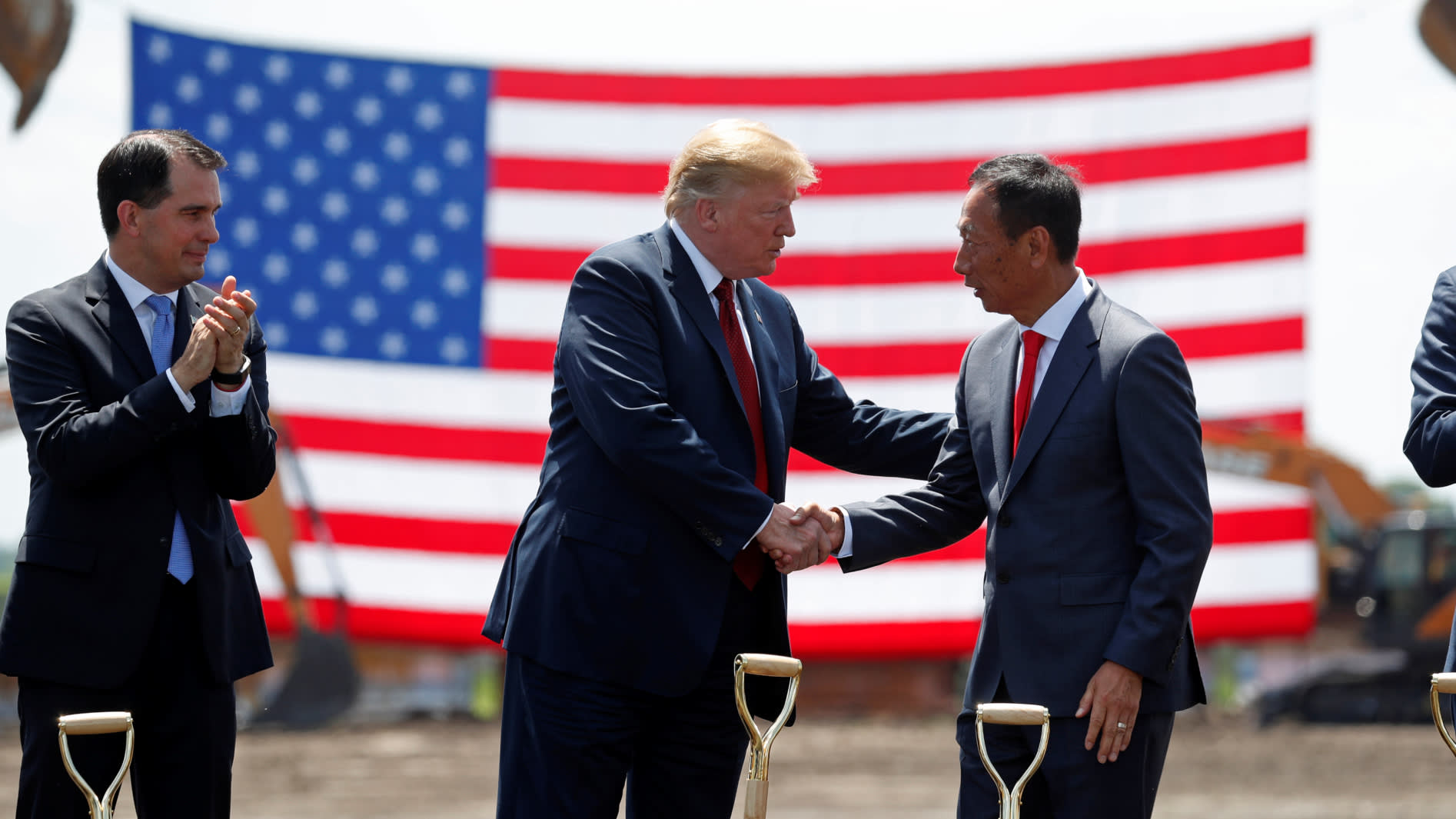Image result for trump foxconn groundbreaking