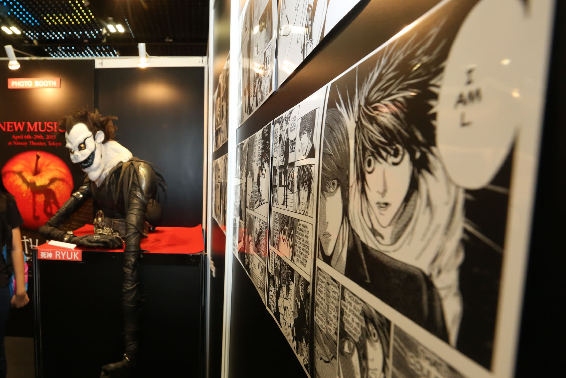 A Booth At Anime Festival Asia Promotes Death Note Popular Japanese Comic In Singapore December Photo By Ken Kobayashi