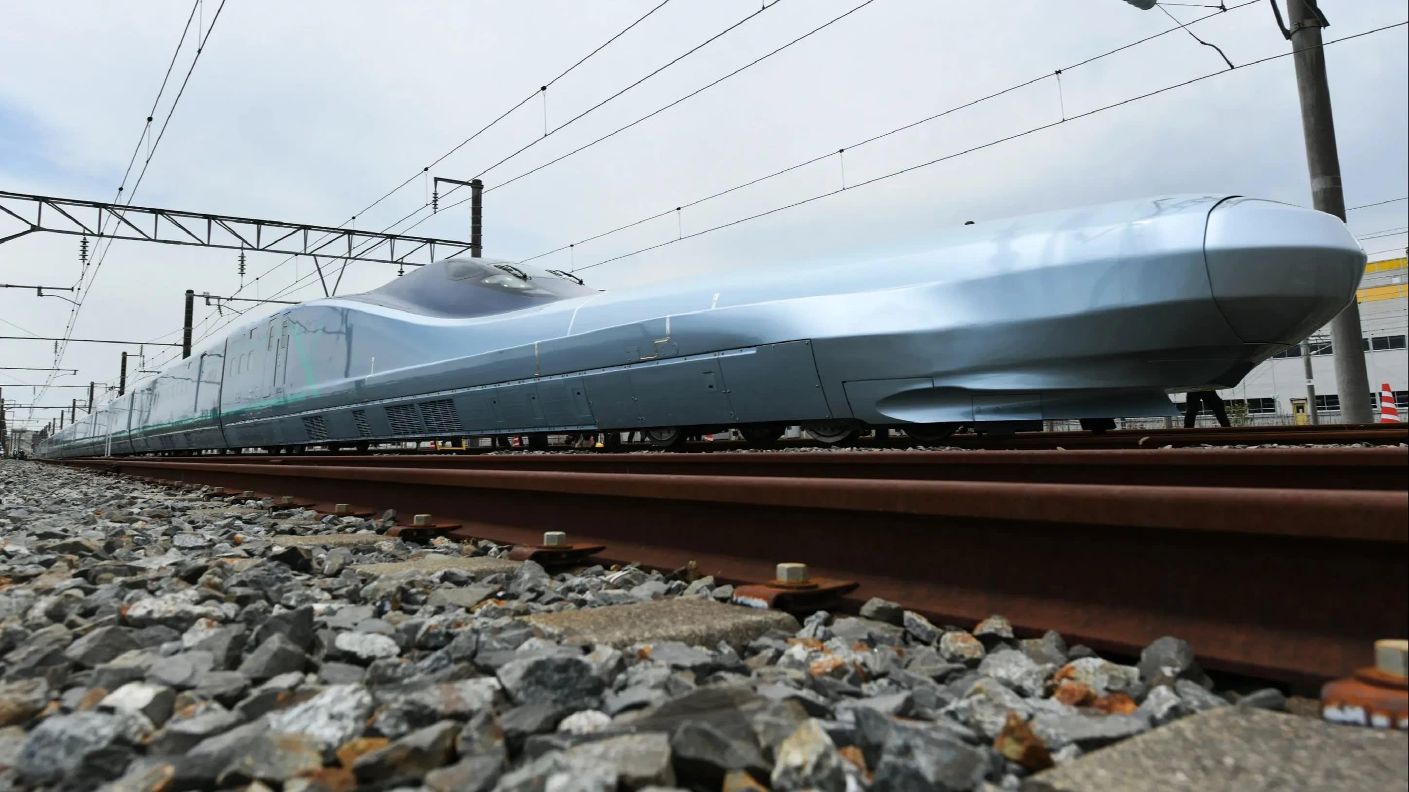 World's fastest bullet train' starts test runs in Japan