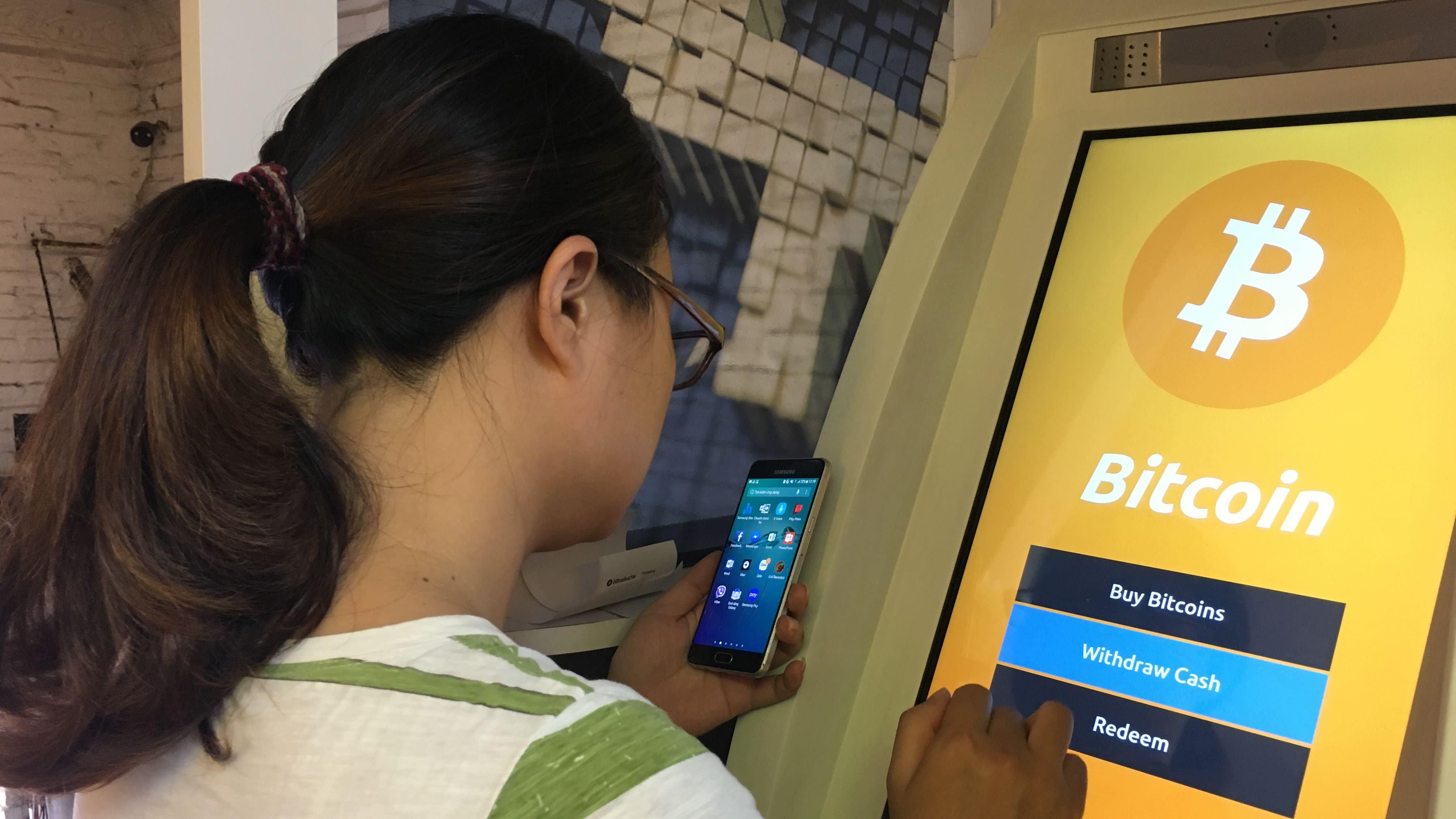 A bitcoin ATM in Ho Chin Minh City.