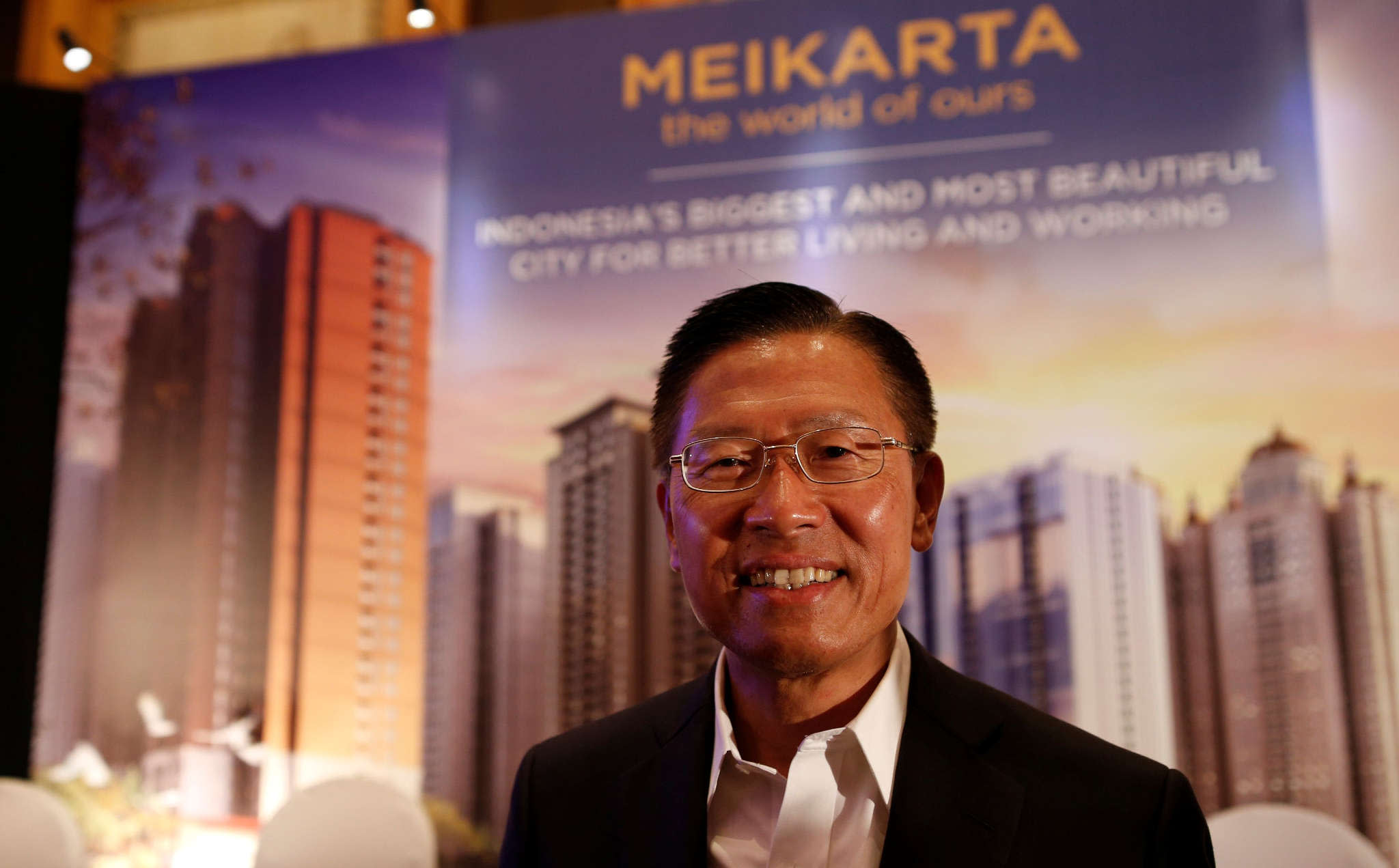 James Riady Ceo Of Indonesian Conglomerate Lippo Group Poses After Announcing The Meikarta Project At A News Conference In Jakarta In May