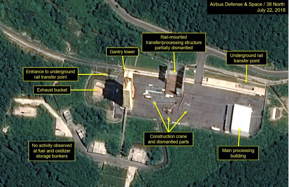 North Korea starts dismantling main rocket test site, report