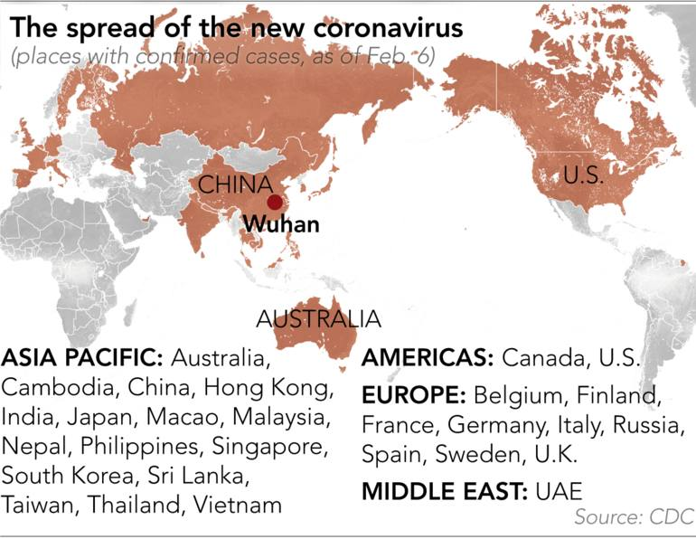 places affected coronavirus