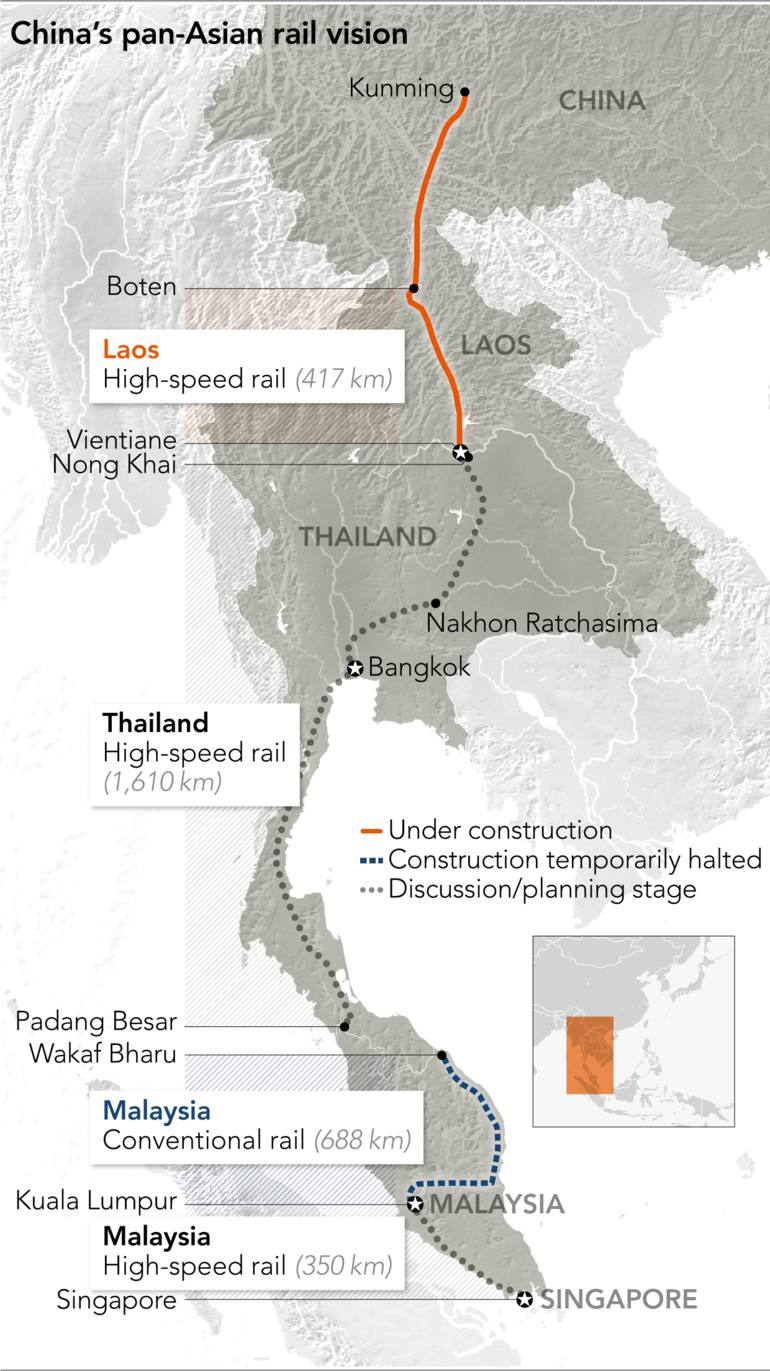 Map Of China And Southeast Asia.Why China Is Determined To Connect Southeast Asia By Rail Nikkei