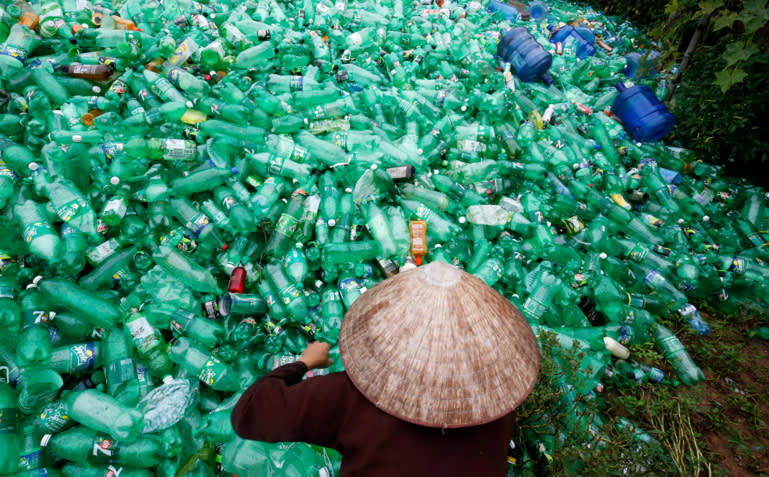 China's scrap plastic ban saddles neighbors with piles of